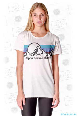 Alpha Gamma Delta Summit Scoop Tee