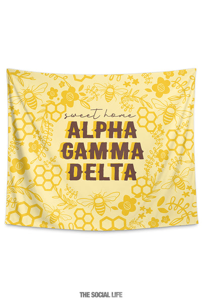 Alpha Gamma Delta Sweet Home Tapestry