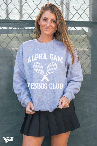 Alpha Gamma Delta Tennis Club Crewneck