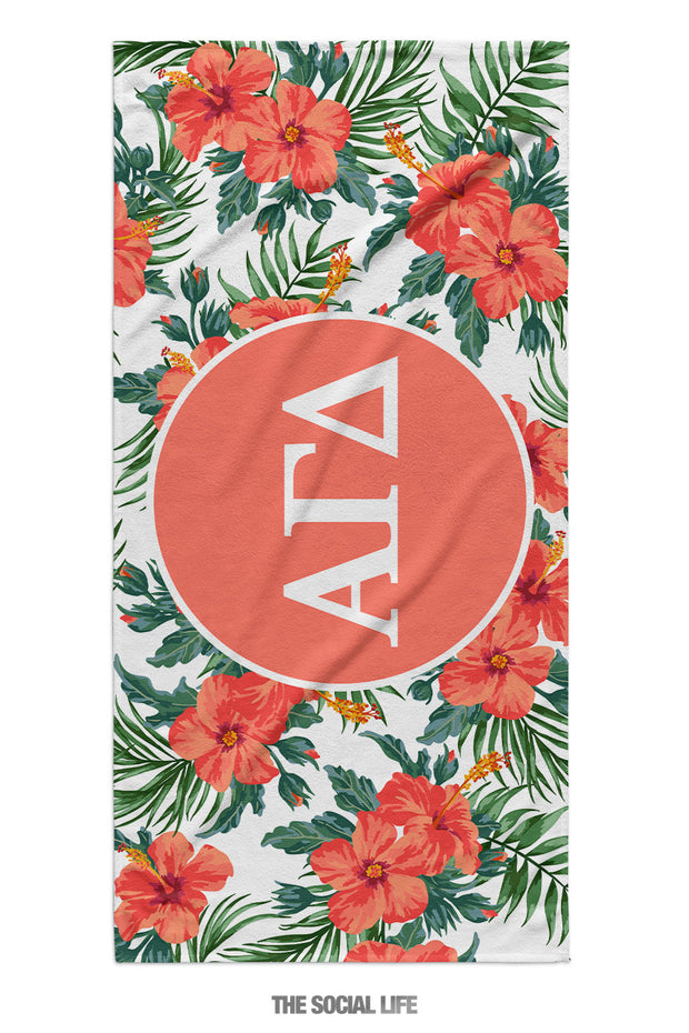 Alpha Gamma Delta Tropic Towel