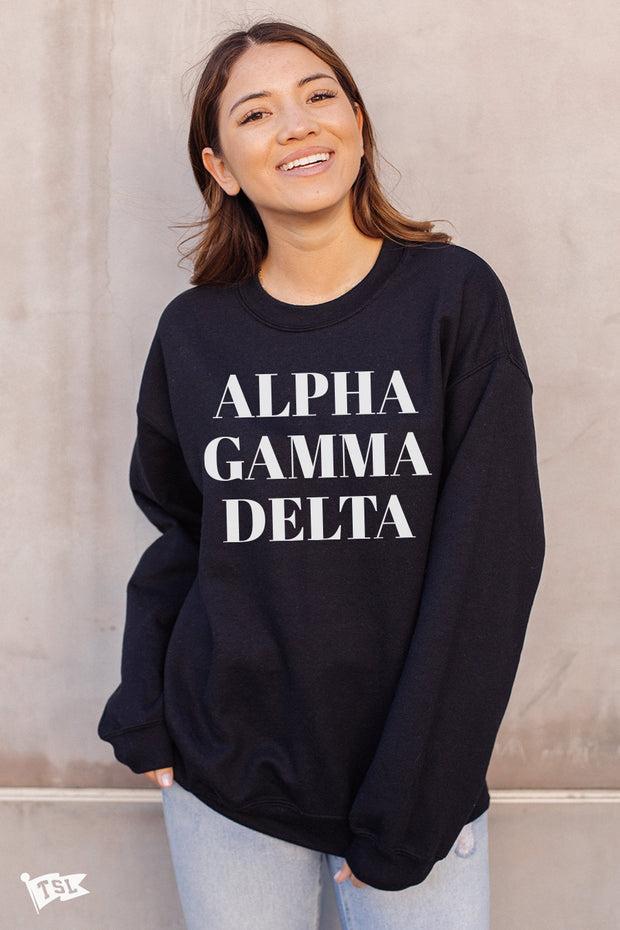 Alpha Gamma Delta Vogue Crewneck