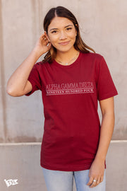 Alpha Gamma Delta Webster Tee