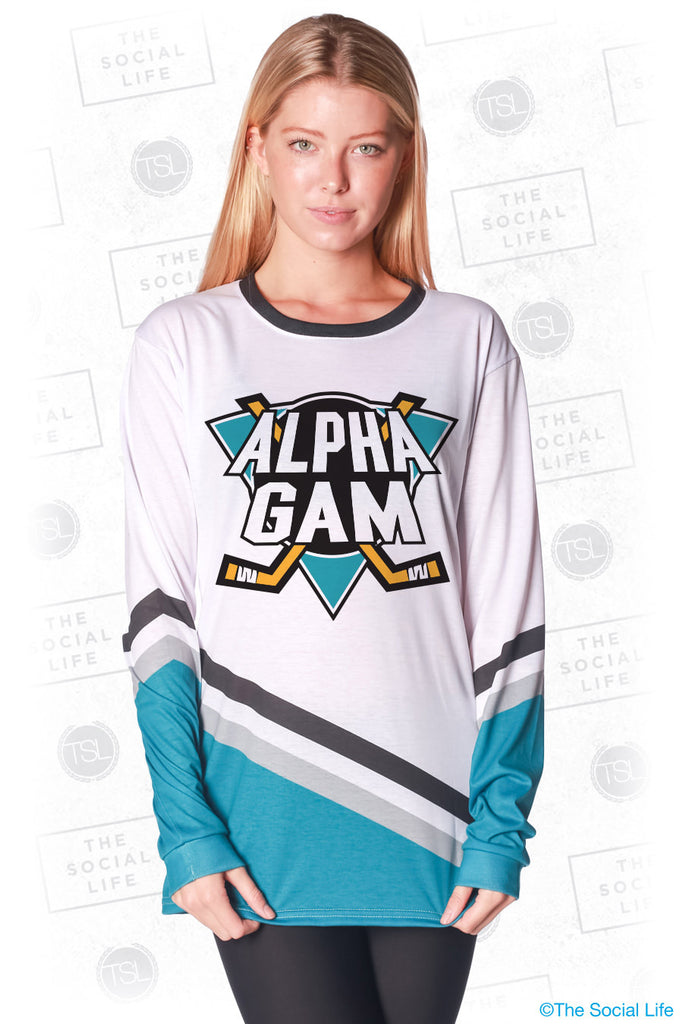 Alpha Gamma Delta Mighty Hockey Long Sleeve