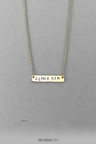 Alpha Gamma Delta Custom Necklace