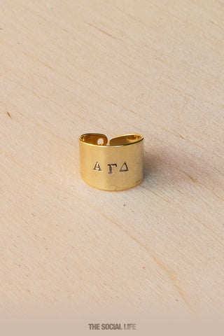 Alpha Gamma Delta Custom Ring