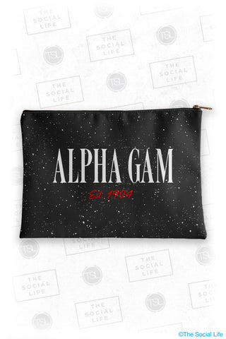 Alpha Gamma Delta Speckle Cosmetic Bag