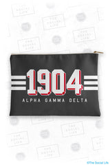Alpha Gamma Delta Varsity Cosmetic Bag