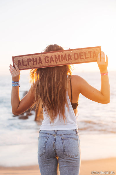 Alpha Gamma Delta Vintage Sign