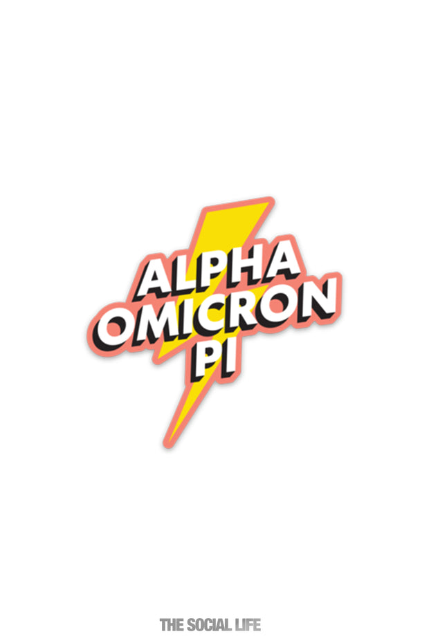 Alpha Omicron Pi Stickers