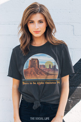 Alpha Omicron Pi Born to Be Tee