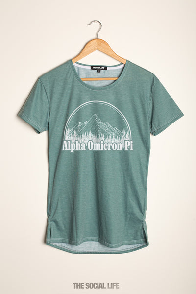 Alpha Omicron Pi Forest Scoop Tee