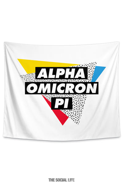Alpha Omicron Pi Graphy Tapestry