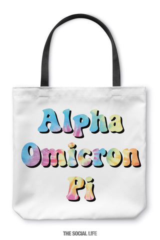 Alpha Omicron Pi Hippie Tote Bag