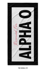 Alpha Omicron Pi Reserved Towel