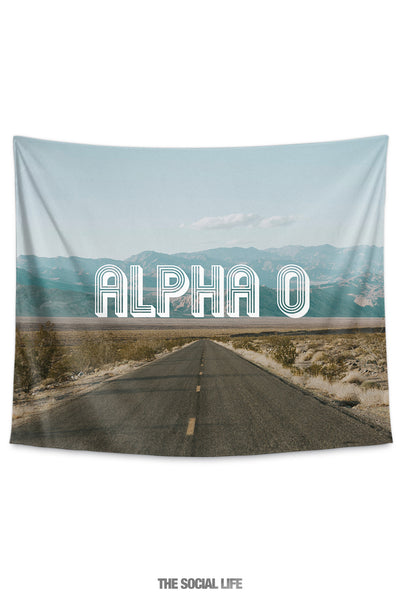 Alpha Omicron Pi Roadtrip Tapestry