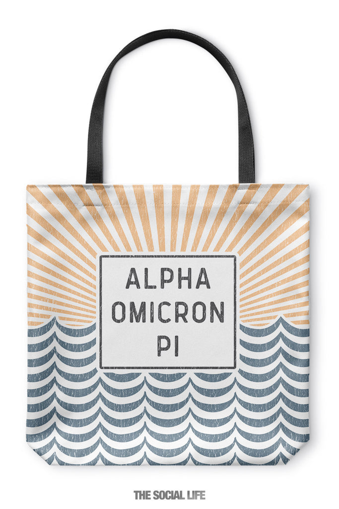 Alpha Omicron Pi Sunshine Tote Bag