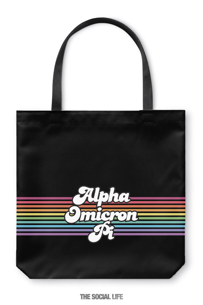 Alpha Omicron Pi That 70s Tote