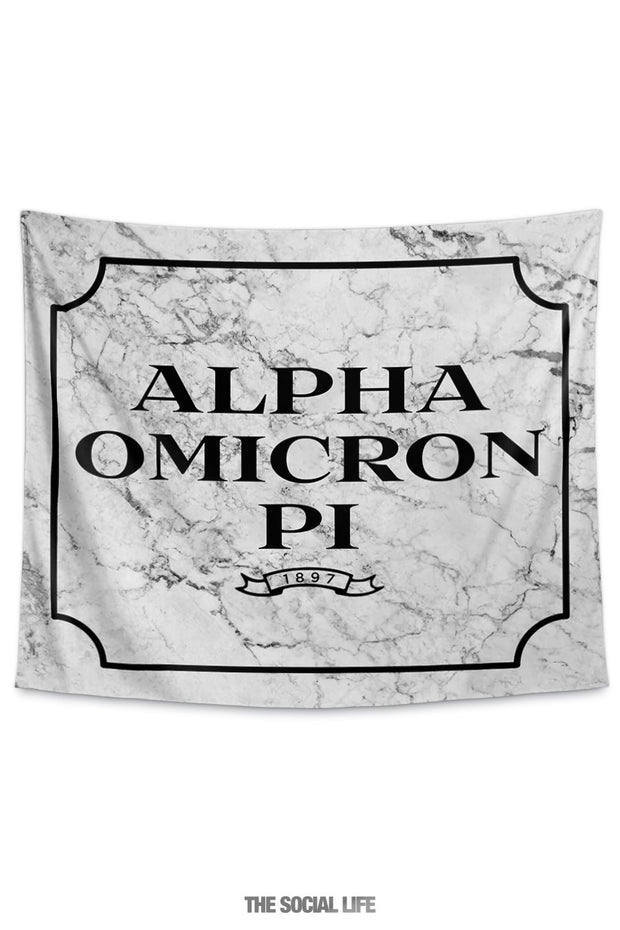 Alpha Omicron Pi Milano Marble Tapestry