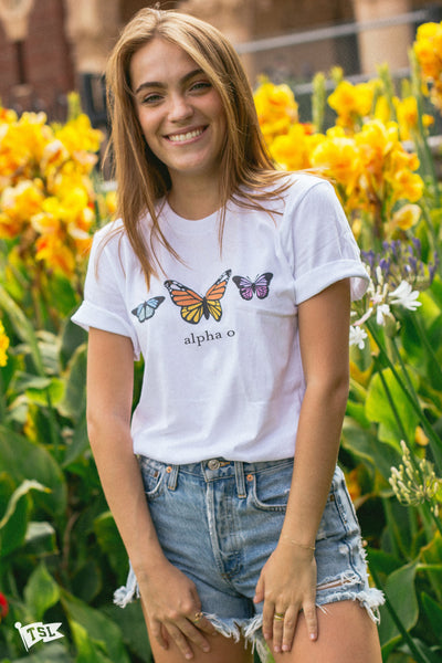 Alpha Omicron Pi Butterfly Tee