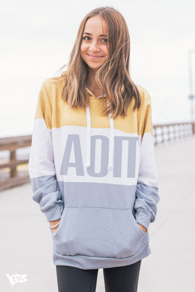 Alpha Omicron Pi Colorblock Hoodie