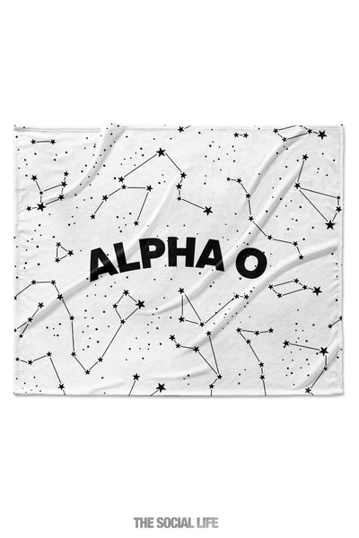 Alpha Omicron Pi Constellation Blanket