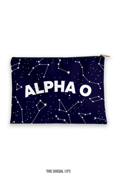 Alpha Omicron Pi Constellation Cosmetic Bag