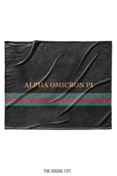 Alpha Omicron Pi Couture Blanket