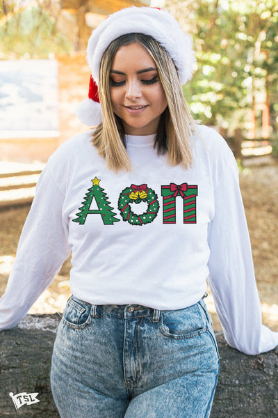 Alpha Omicron Pi Holiday Letter Long Sleeve