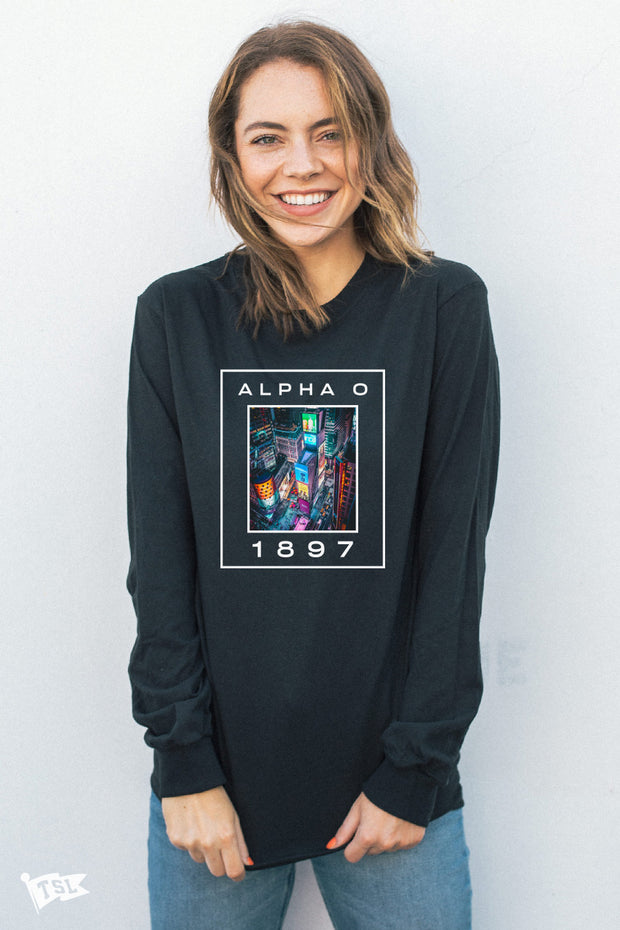 Alpha Omicron Pi Nightlife Long Sleeve