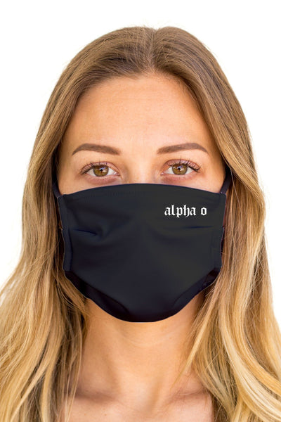 Alpha Omicron Pi OG Mask (Anti-Microbial)