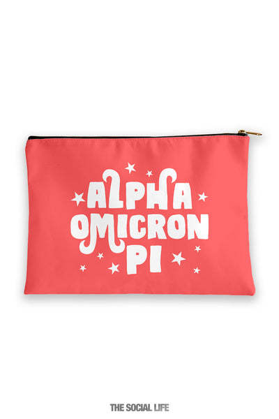 Alpha Omicron Pi Pixie Cosmetic Bag