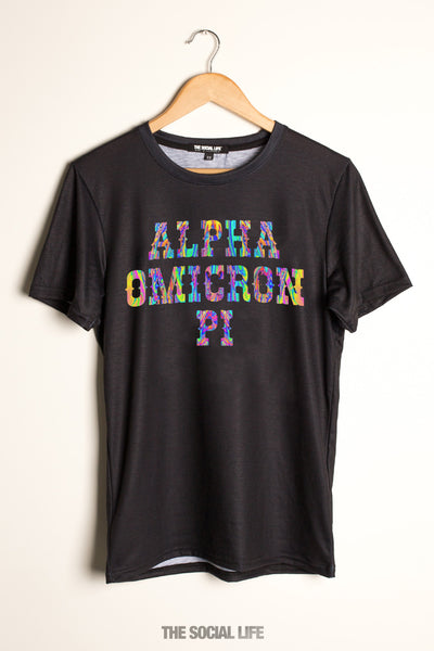 Alpha Omicron Pi Psychedelic Tee
