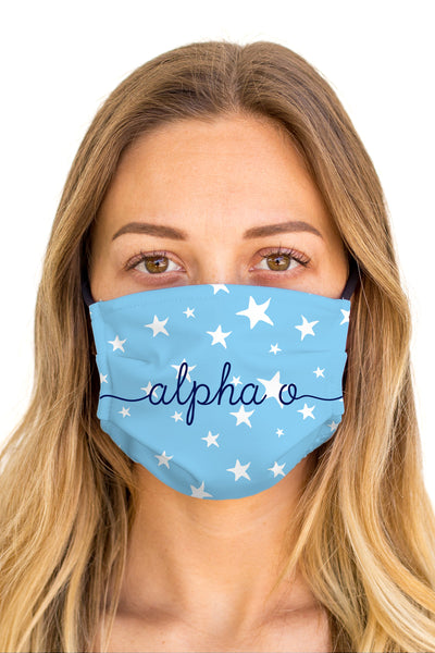 Alpha Omicron Pi Dreamy Mask (Anti-Microbial)
