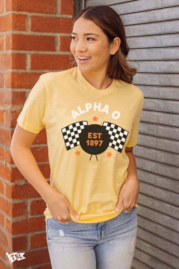 Alpha Omicron Pi Speedway Tee