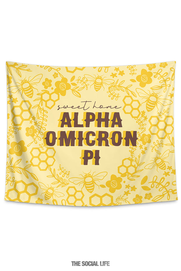 Alpha Omicron Pi Sweet Home Tapestry