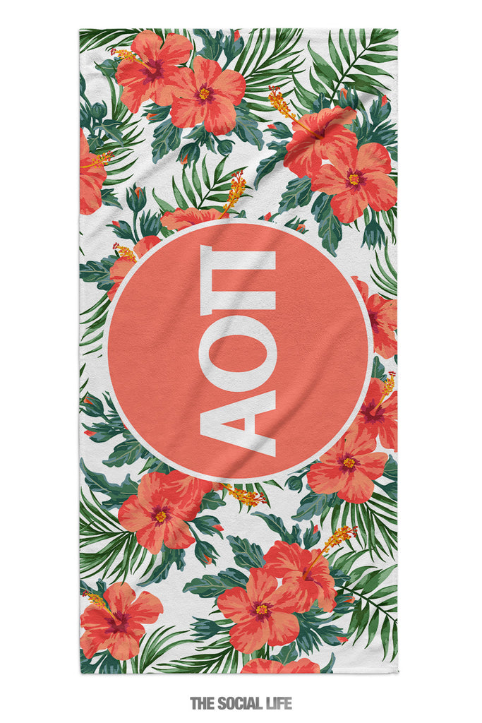 Alpha Omicron Pi Tropic Towel