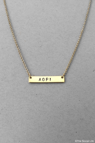 Alpha Omicron Pi Custom Necklace