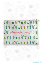 Alpha Omicron Pi Cacti Cosmetic Bag