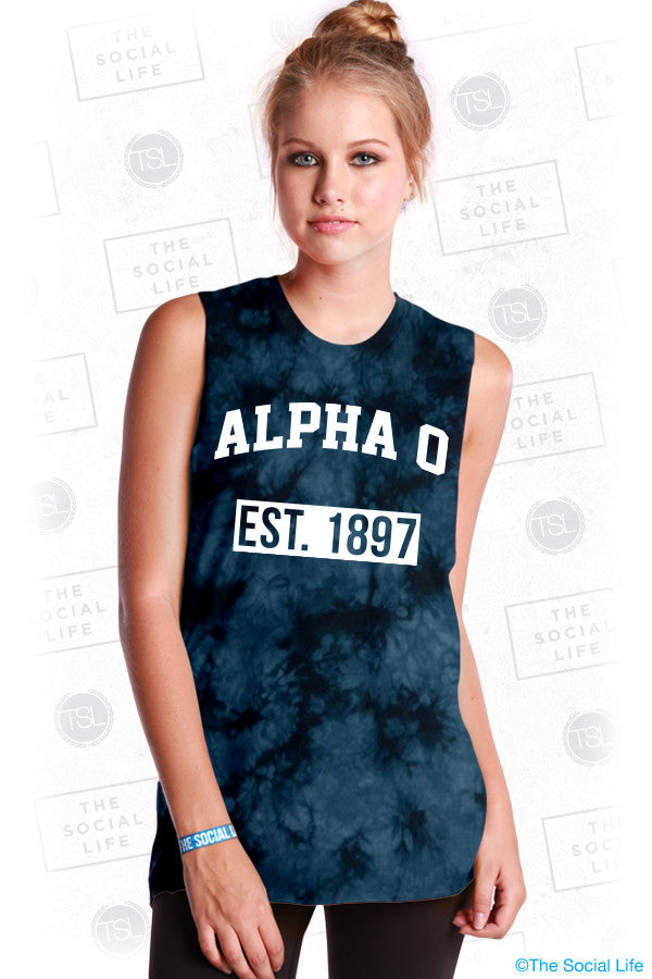 Alpha Omicron Pi Tower Muscle Tank