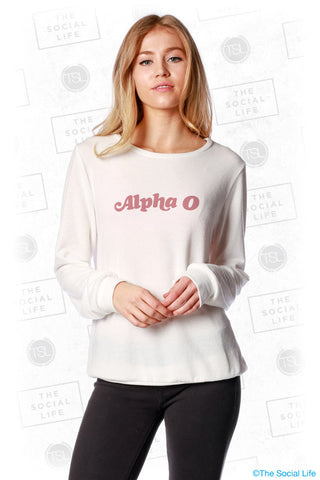 Alpha Omicron Pi Slouchy Pullover