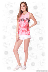 Alpha Omicron Pi Marble Muscle Tank