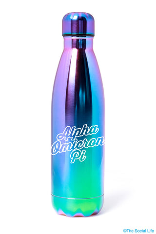 Alpha Omicron Pi Galaxy Blue Water Bottle