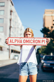 Alpha Omicron Pi Vintage Sign
