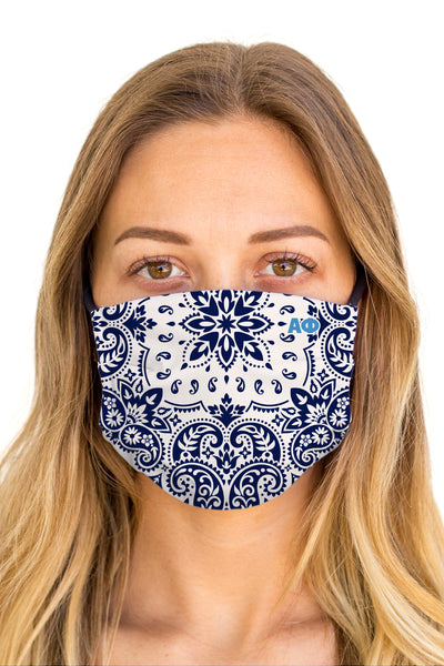 Alpha Phi Bandana Mask (Anti-Microbial)