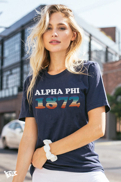 Alpha Phi Boardwalk Tee