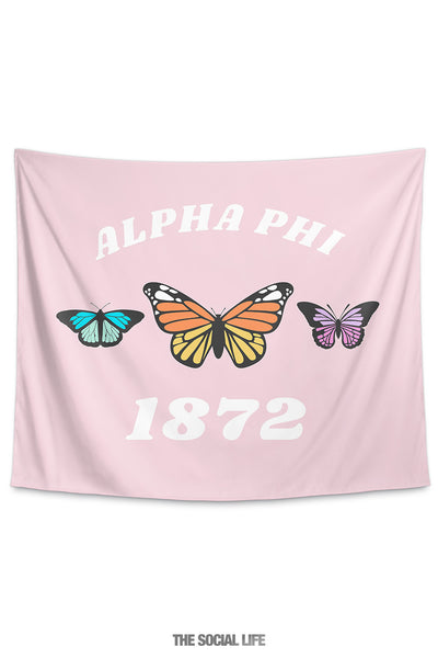 Alpha Phi Butterfly Tapestry