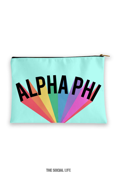 Alpha Phi Colorblast Cosmetic Bag