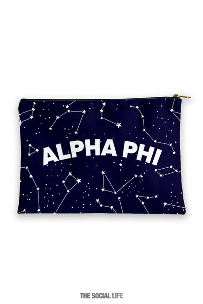 Alpha Phi Constellation Cosmetic Bag
