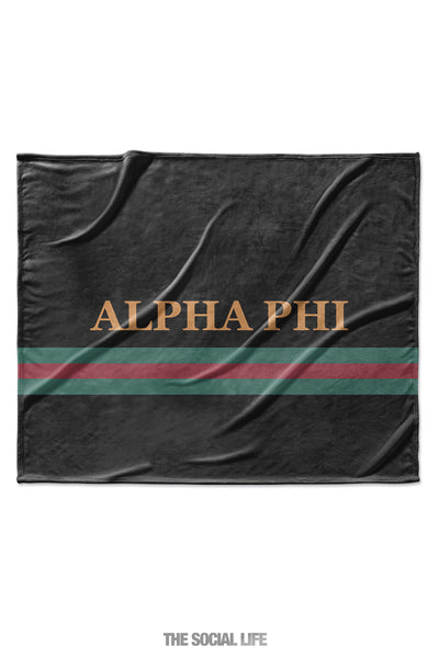 Alpha Phi Couture Blanket