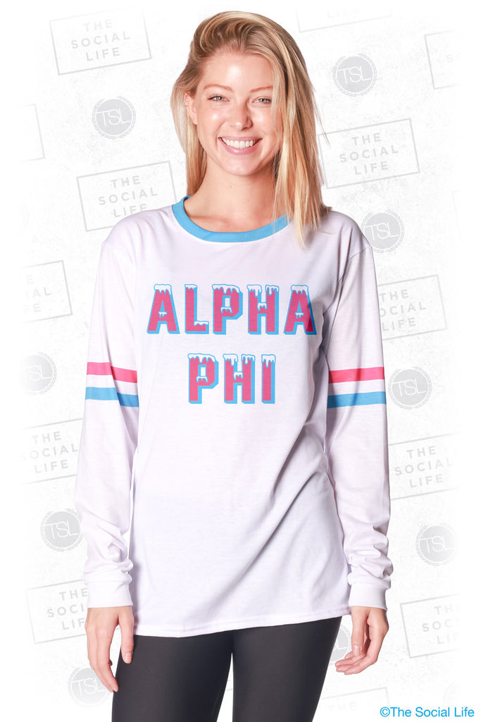 Alpha Phi Frosted Long Sleeve